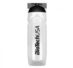 BioTech USA áttetsző fehér kulacs - 750 ml