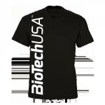 BiotechUSA férfi póló, fekete